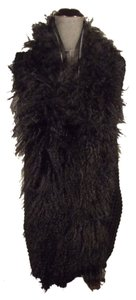 Shape FX Vest Cardi Mongolian Fur One Size Fits Most Top Black