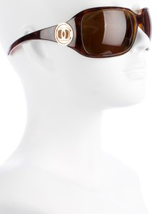 Chanel 6023 Brown Tortoise CC Logo Gold Hardware Oversized Square Aviators