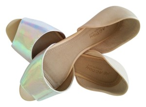 Kenneth Cole Reaction Leather Patent Camel Flats