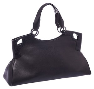 Cartier Marcello Leather Shoulder Tote in Black