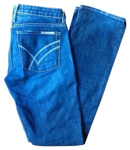 William Rast Distressed Straight Leg Jeans-Medium Wash