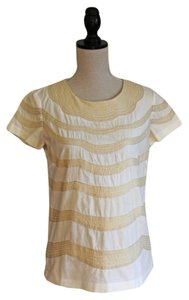 Anthropologie Top Cream and White