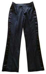 Pleasure Swell Retro Tuxedo 1990s Vintage Throwback Tab Top Leg Straight Pants Black