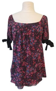 Sweet Pea by Stacy Frati Nylon Mesh Floral Top Multi-Colored