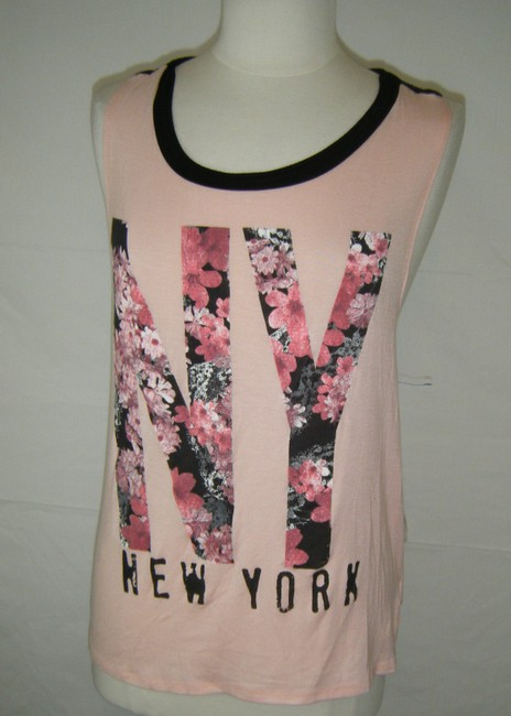 FASHION DAZZLE Top PINK NY GRAPHICS