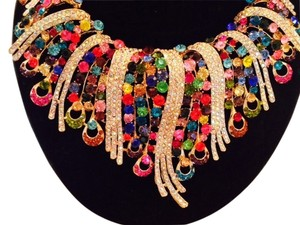 Sophia Eugene Jewel Toned Magnificent statement neckless w/earrings to match