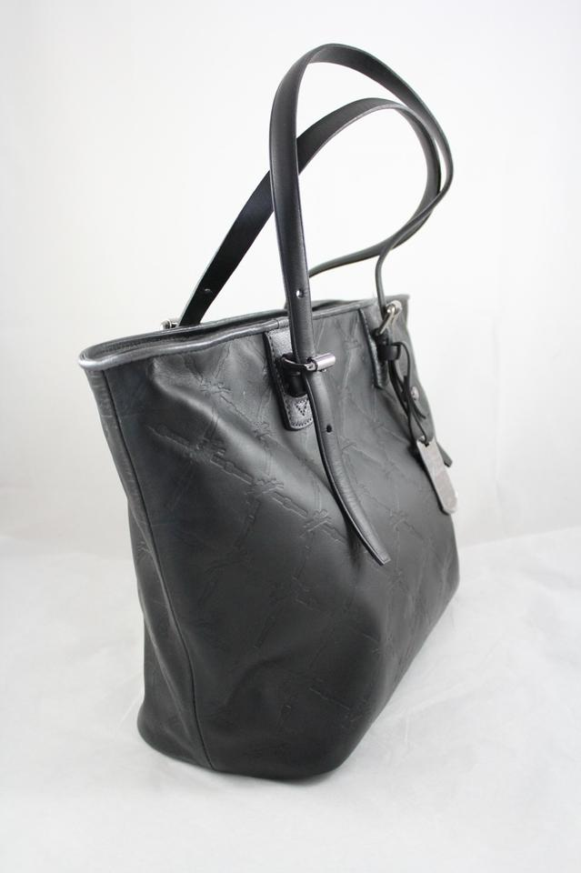 Longchamp Lm Cuir 1524-746 Black with Nickel Leather Tote - Tradesy a6073b8664d37