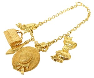 Chanel Authentic CHANEL Vintage Signature CC Multi-Charm Necklace