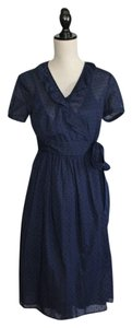 J.Crew short dress Navy Dotted Swiss on Tradesy
