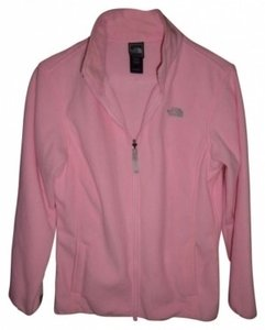 The North Face Light pink with brown trim Jacket