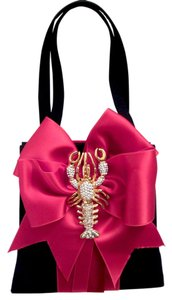 Bosom Buddy Bags Satchel in Black & Red