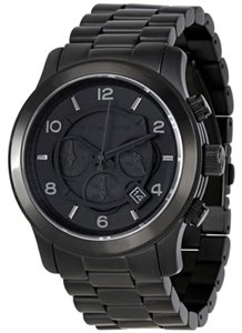 a4f77751c904 Michael Kors Michael Kors Blacked Out Runway Chronograph Mens Watch MK8157
