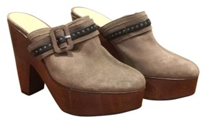 Robert Clergerie Taupey Gray Mules