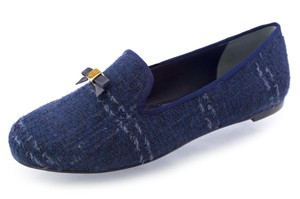 Tory Burch Womens Blue Flats