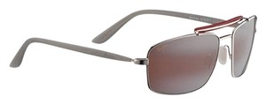 Maui Jim Maui Jim R224-04 Manele Bay Color Silver With Red Polarized