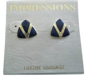 Impression Bridal Impressions, Navy with Gold Embossed V Design
