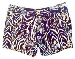 Lilly Pulitzer Mini/Short Shorts Navy&off white