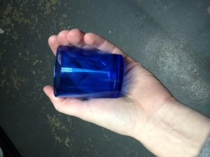 New In Box Blue Votive Holders (72)