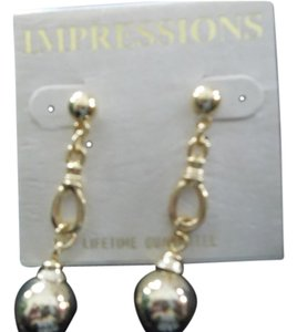 Impression Bridal Impressions, Gold Dangle Pierced Earrings