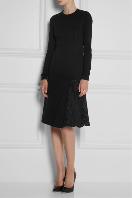 Stella McCartney Crochet Embroidered Stretchy Longsleeve Dress