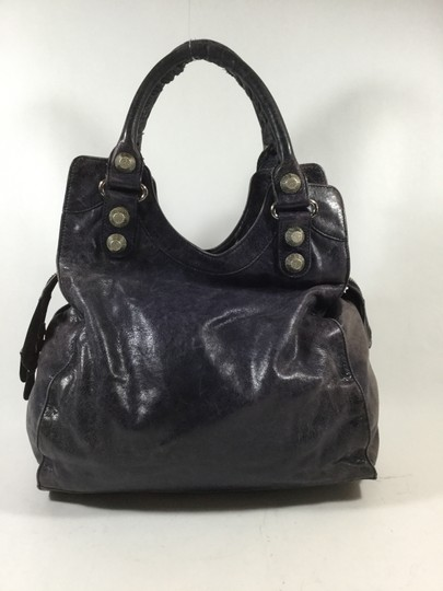 Balenciaga Lambskin Tote in Violet Blue