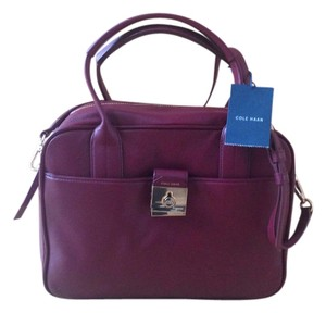 Cole Haan Leather Satchel in Zinfandel