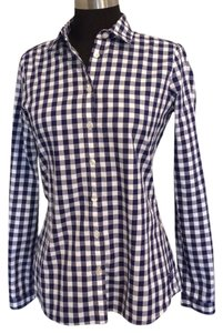 Burberry Brit Button Down Shirt Navy & White
