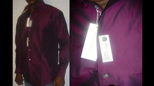 Calvin Klein Slim Fit, Formal. Two Fold. Shirt. Brownish Grape Color