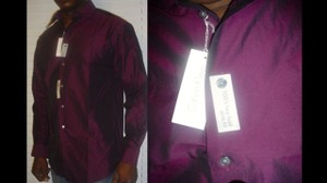 Calvin Klein Slim Fit, Two Fold, Brownish Grape Formal Shirt
