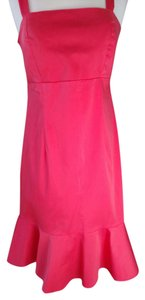 Madison Leigh short dress Coral Built In Bra Washable Cotton/spandex Flare Bottom Back Ziipper on Tradesy