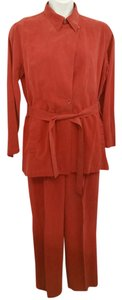 A-Line A-LINE BY ANNE KLEIN 2-PC.BELTED SILK PANT SET 14