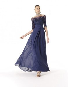 Pronovias Navy Ranzinne Dress