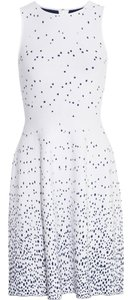 ISSA London short dress White And Blue Patterned on Tradesy