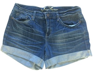 Juicy Couture Studded Denim Cuffed Shorts