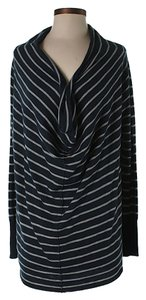 Joie Striped Cowl Neck Wool Cashmere Sweater