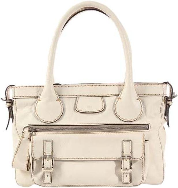 Item - Edith Blanc Off White Leather Tote