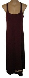 Burgundy Maxi Dress by Mossimo Supply Co. Racerback Tank Cotton Lightweight Maxi Summer Beachy Maroon