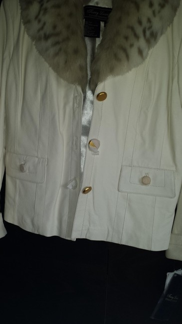 Terry Lewis Classic Luxuries Cream/Off white Leather Jacket