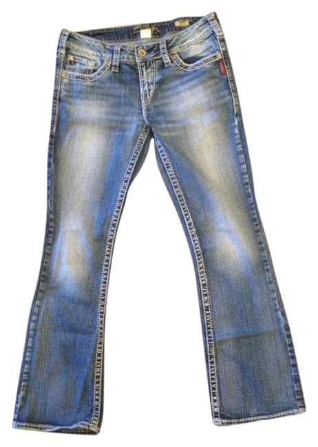 Item - Distressed Boot Cut Jeans Size 30 (6, M)