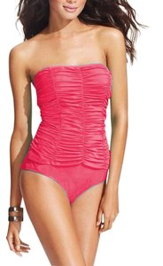 Jones New York Jones New York Women's Tummy Smoother Bandeau Ruched Swimsuit Sz 8