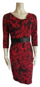 David Meister short dress red on Tradesy