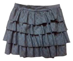 J.Crew Mini Skirt Grey - black plaid