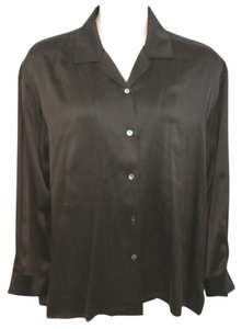 Eileen Fisher Silk Top DARK BROWN