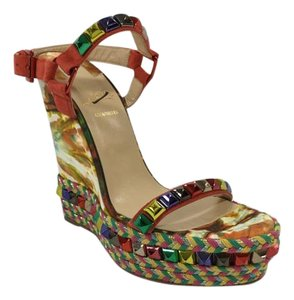 Christian Louboutin Cataclou Wedge Color Multi colored Wedges