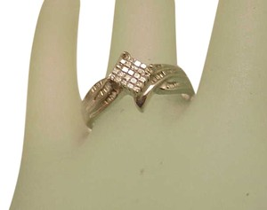 Estate Vintage 1.00ctw Natural Princess Cut Diamond 10k White Gold Ring
