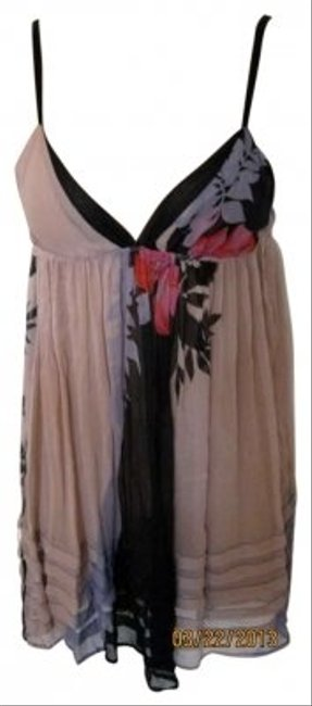Sparkle & Fade short dress multicolor And Beach Party Sheer Silk Empire Waist V Neck Layered Flowers on Tradesy