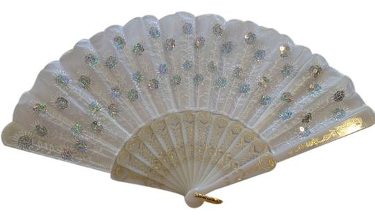 Other Embroidered Sequin Fan - [ Roxanne Anjou Closet ]