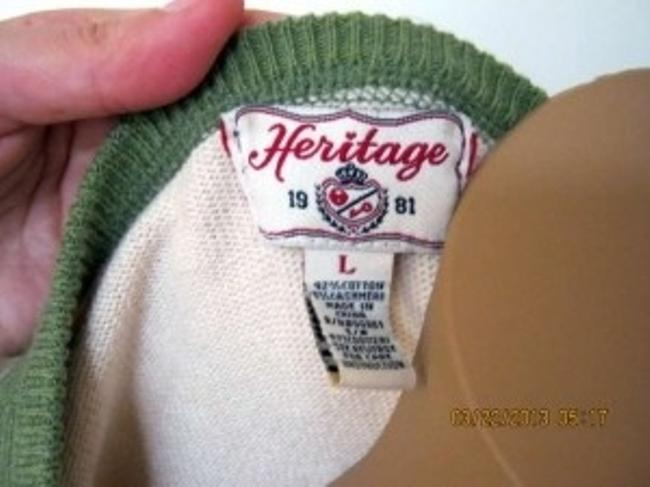 Heritage 1981 Forever Abalone Cashmere 3/4 Length V-neck Sweater