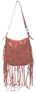 Kenneth Cole Red Suede Shoulder Bag