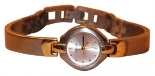 Preload https://item2.tradesy.com/images/silver-tone-and-gold-tone-accents-cuff-style-lady-s-watch-139361-0-0.jpg?width=440&height=440